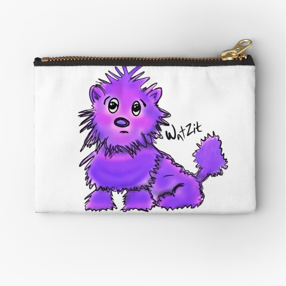 WatZit Enchanted Mythical Creature Purple Zipper Pouch