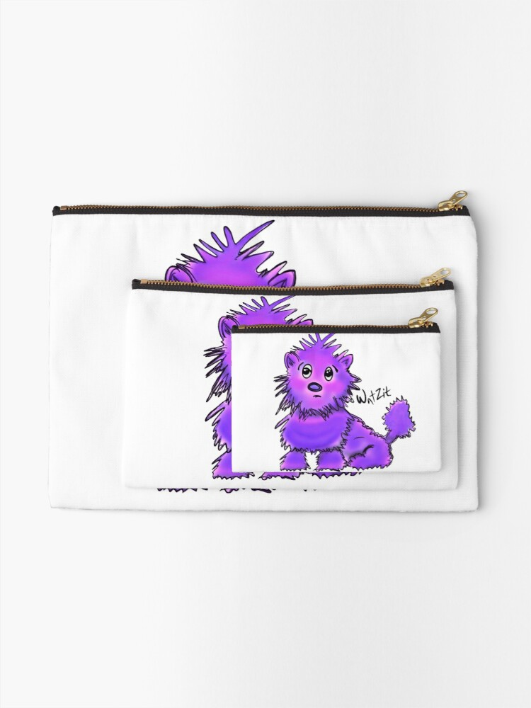 Alternate view of WatZit Enchanted Mythical Creature Purple Zipper Pouch