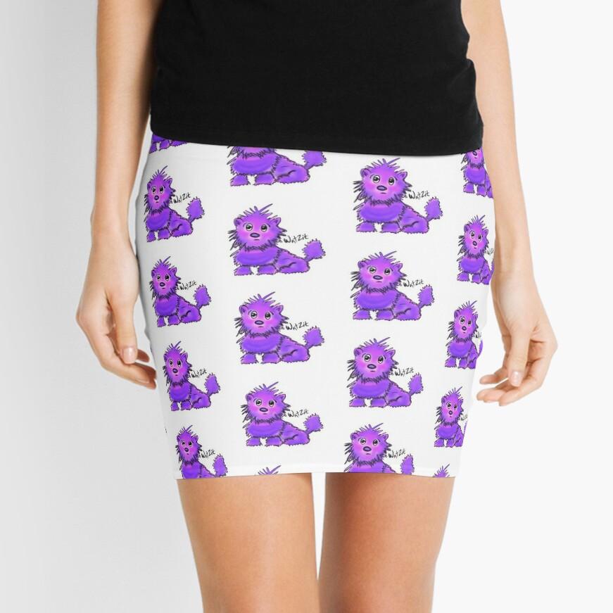 WatZit Enchanted Mythical Creature Purple Mini Skirt