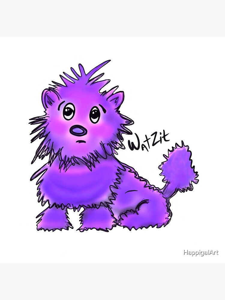 WatZit Enchanted Mythical Creature Purple by HappigalArt
