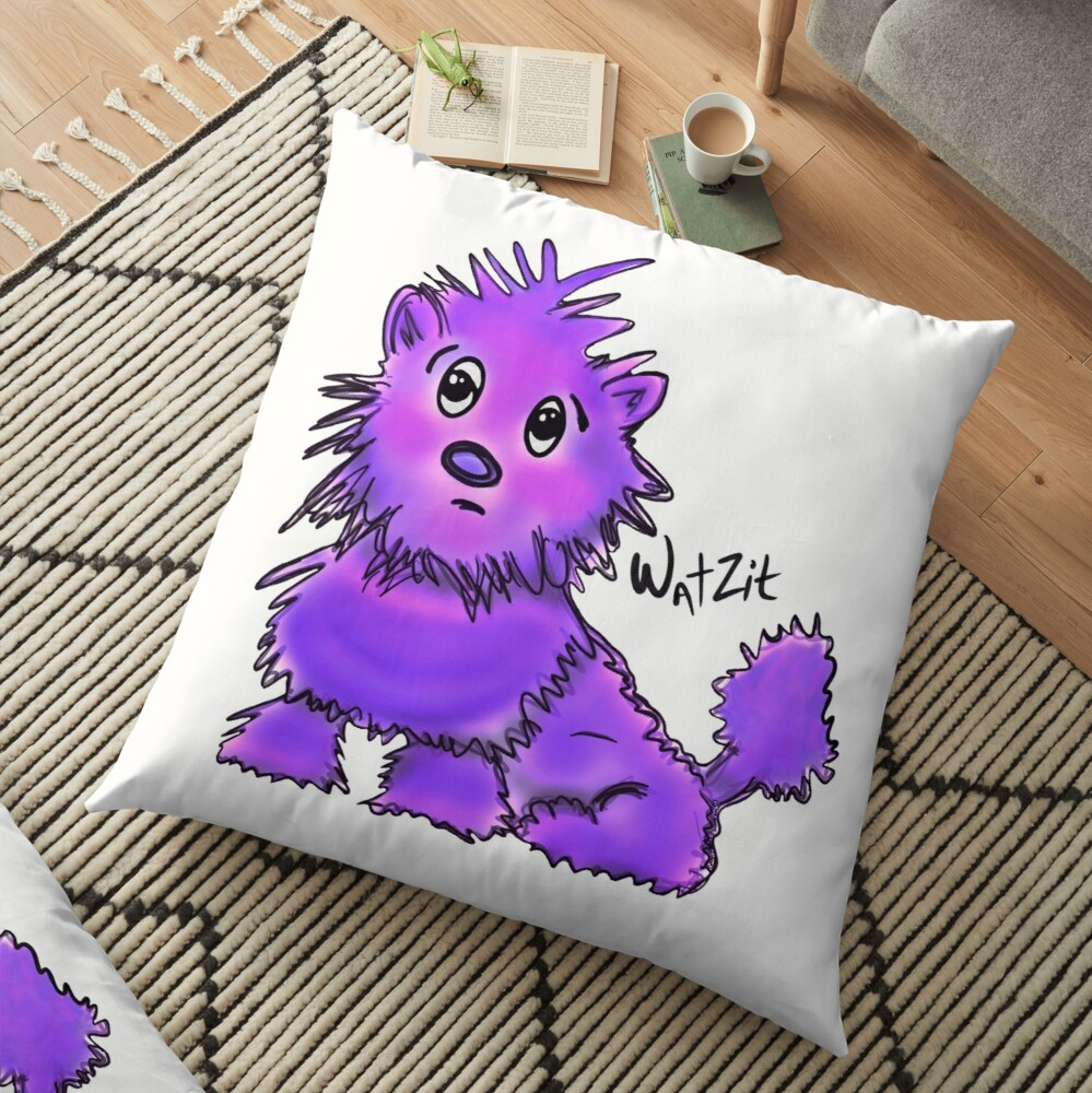 WatZit Enchanted Mythical Creature Purple Floor Pillow