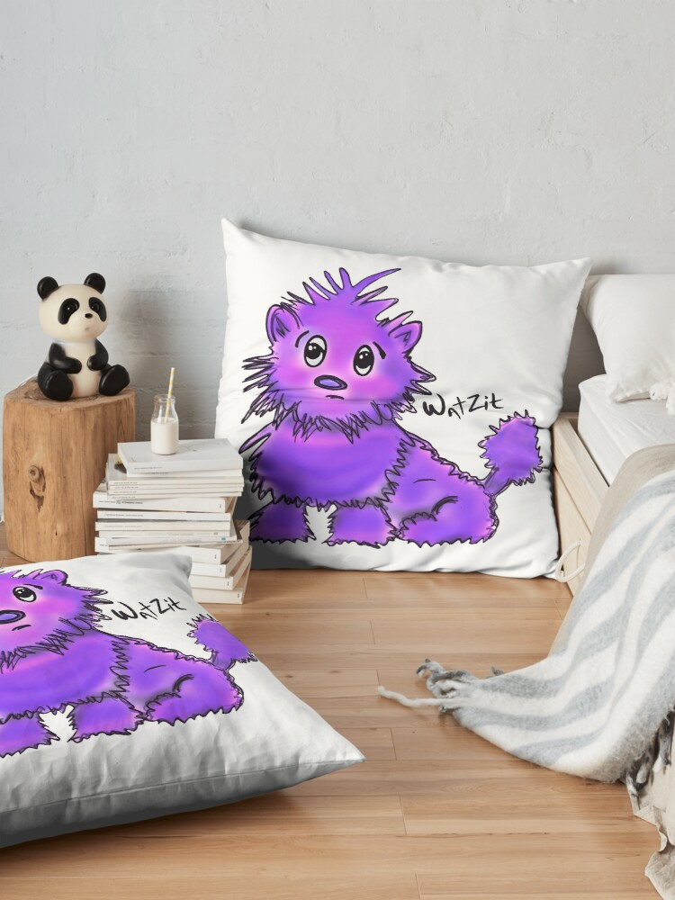 Alternate view of WatZit Enchanted Mythical Creature Purple Floor Pillow