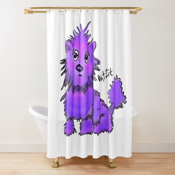 WatZit Enchanted Mythical Creature Purple Shower Curtain