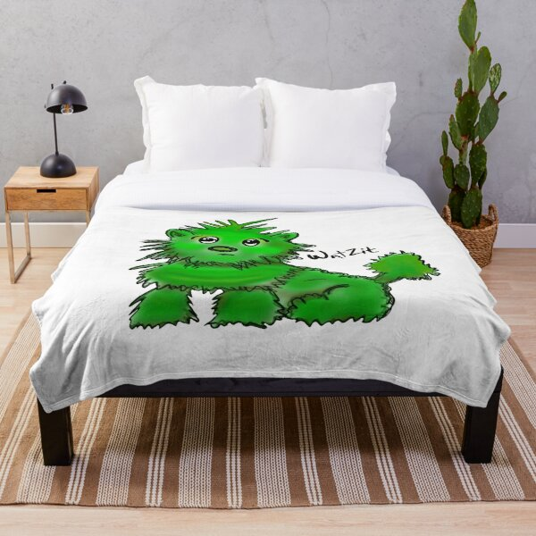 WatZit Enchanted Mythical Creature Green Throw Blanket
