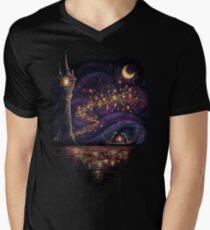 Laternen der Hoffnung T-Shirt mit V-Ausschnitt für Männer