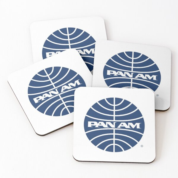 Pan Am Mid 1950s Globe Inverted Coasters (Set of 4)