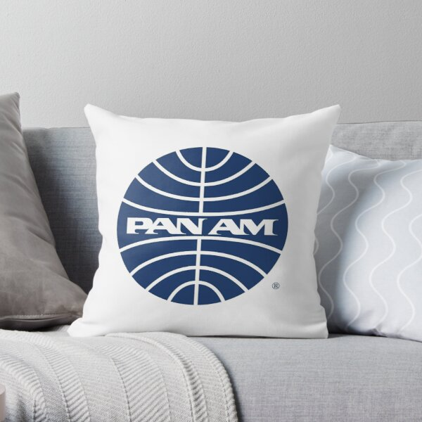 Pan Am Mid 1950s Globe Inverted Throw Pillow