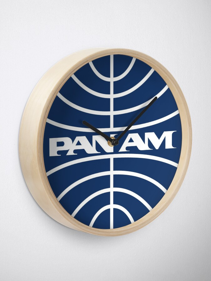 Alternate view of Pan Am Mid 1950s Globe Inverted Clock