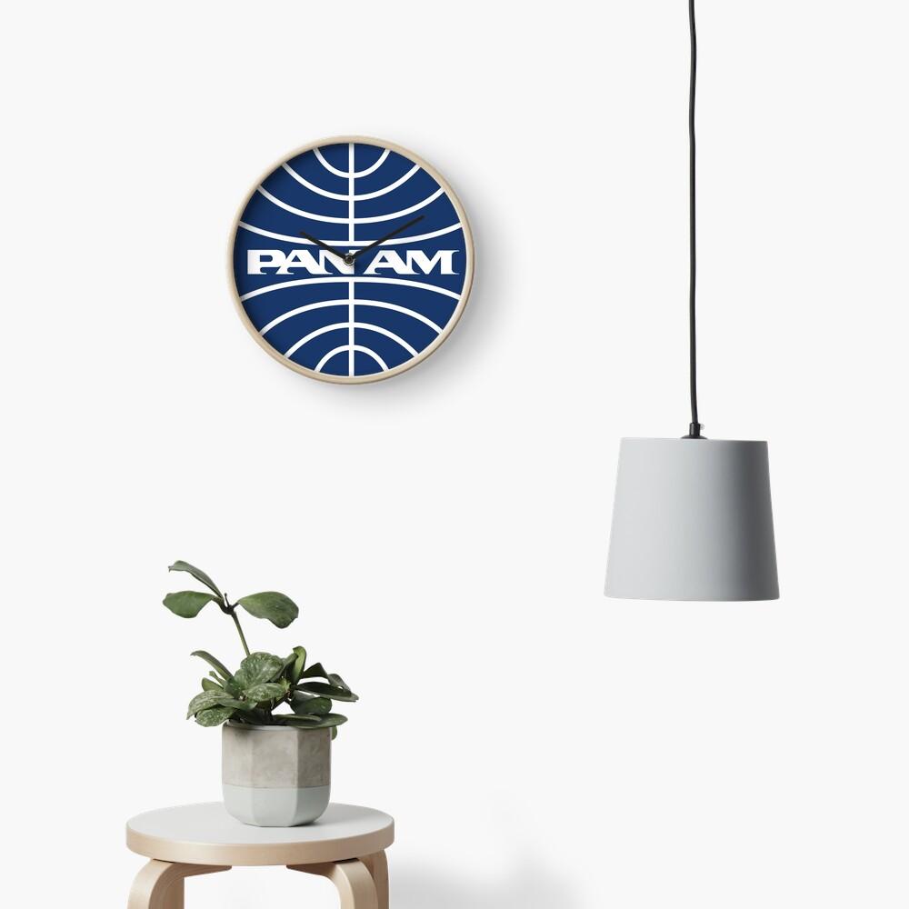 Pan Am Mid 1950s Globe Inverted Clock