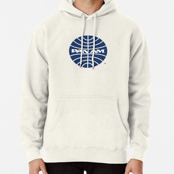 Pan Am Mid 1950s Globe Inverted Pullover Hoodie