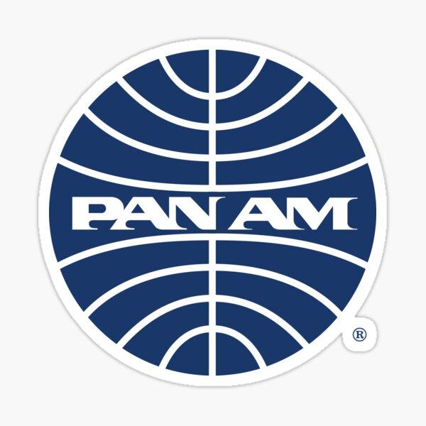 Globe Inversé Pan Am milieu des années 1950 Sticker