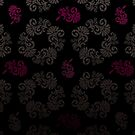 Black floral pattern by rusanovska