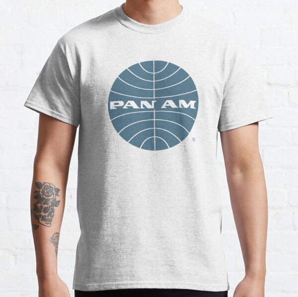 Pan Am Early 1950s Globe Thin Frame Inverted Classic T-Shirt