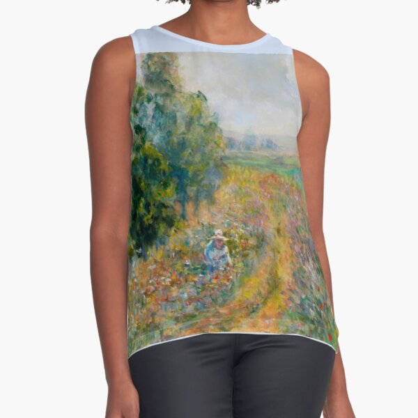 """Impressionist Painting-""""Sally"""" by Mary Pat  Forrest-Fields of Flowers Sleeveless Top"""