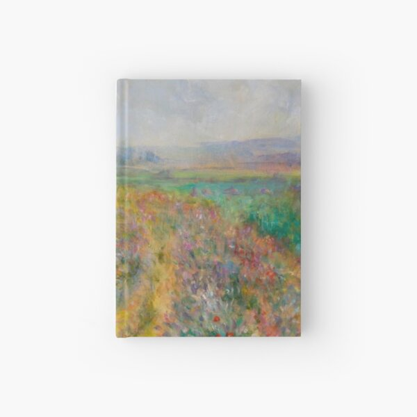 """Impressionist Painting-""""Sally"""" by Mary Pat  Forrest-Fields of Flowers Hardcover Journal"""