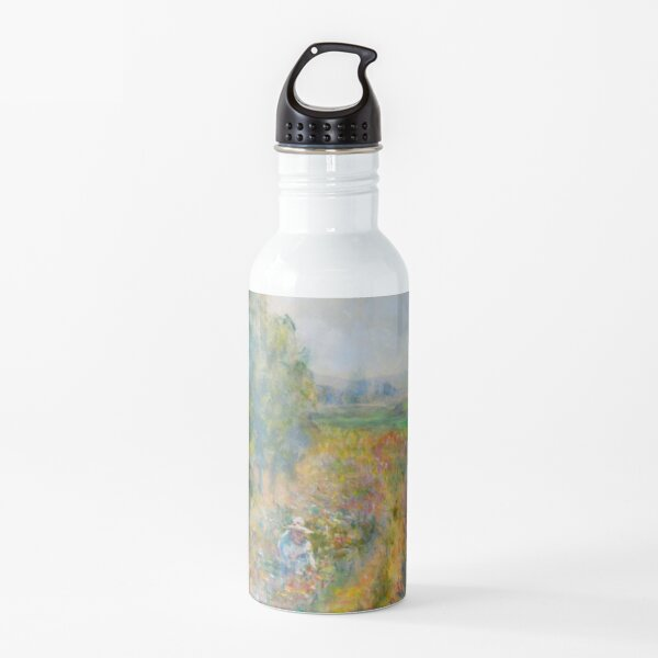 """Impressionist Painting-""""Sally"""" by Mary Pat  Forrest-Fields of Flowers Water Bottle"""