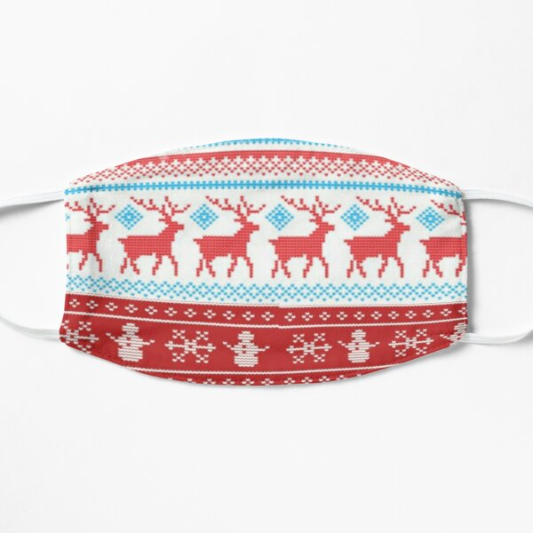 Winter Sweater Reindeers and Snowmen  Mask