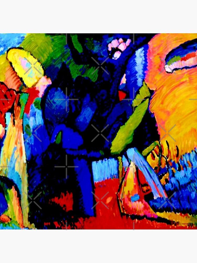 """Improvisation 4""    Wassily Kandinsky Abstract Art by Gascondi"
