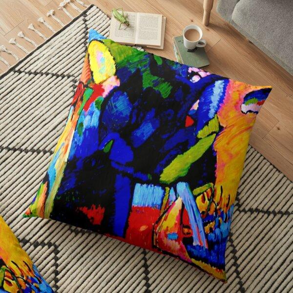 """Improvisation 4"" | Art Abstrait Wassily Kandinsky Coussin de sol"