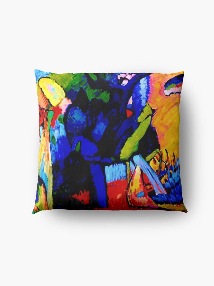 "Alternate view of ""Improvisation 4""    Wassily Kandinsky Abstract Art Floor Pillow"