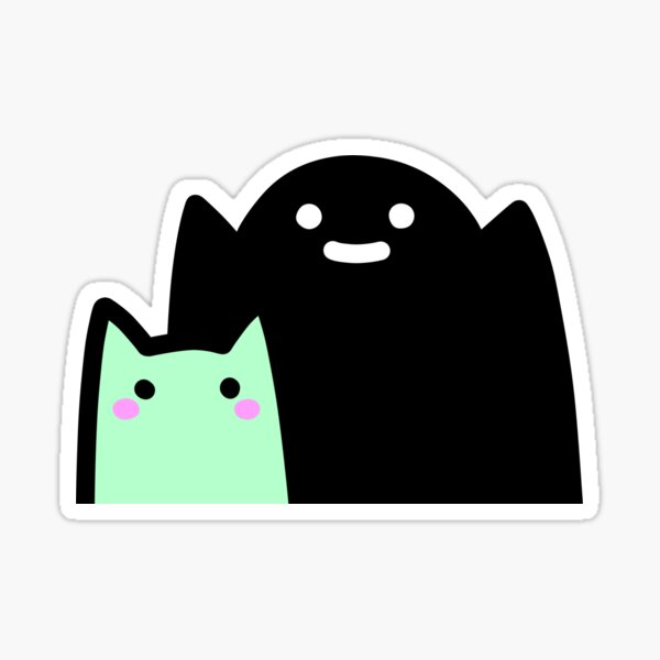 SLIME CAT AND FRIENDS: Boo! Sticker