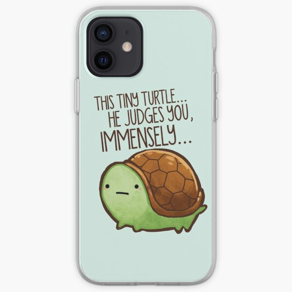 This turtle.. he judges you. iPhone Soft Case