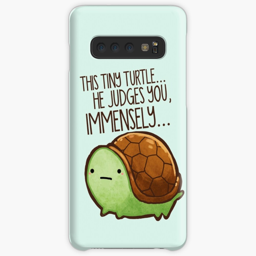 This turtle.. he judges you. Case & Skin for Samsung Galaxy