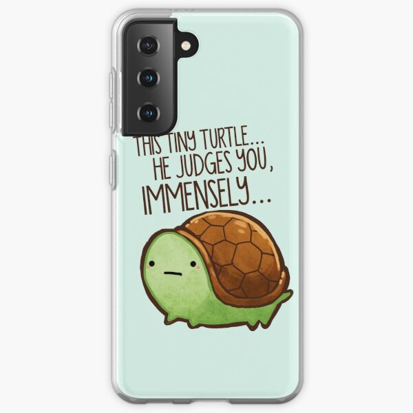 This turtle.. he judges you. Samsung Galaxy Soft Case