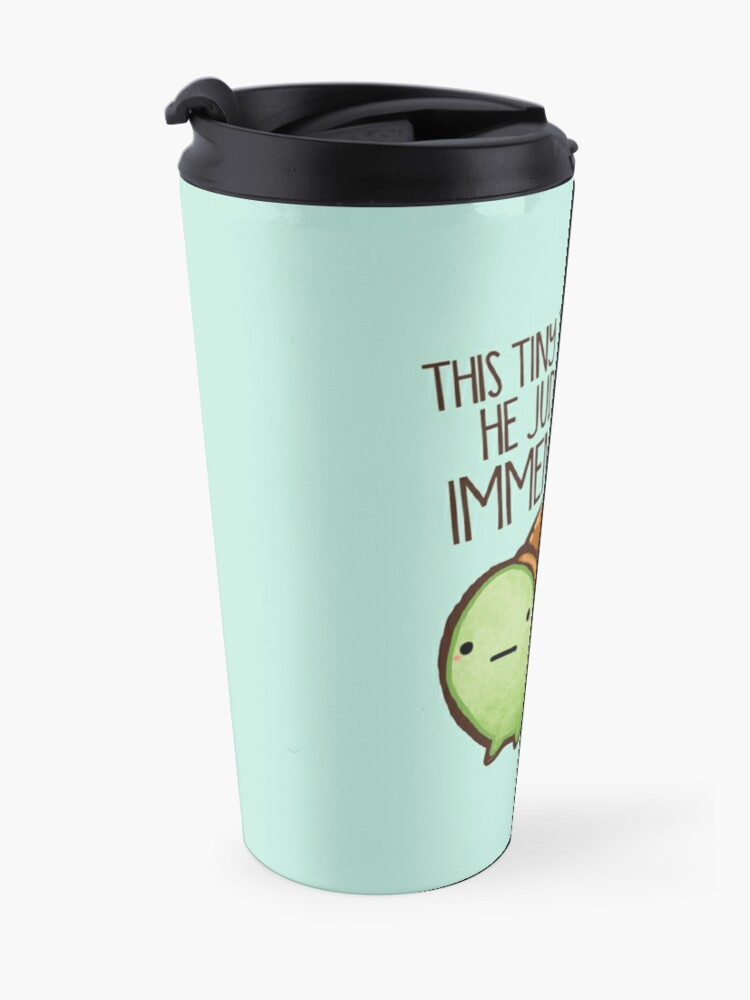 Alternate view of This turtle.. he judges you. Travel Mug