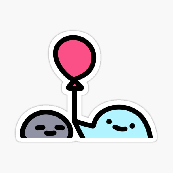 SLIME CAT AND FRIENDS: Balloon Sticker