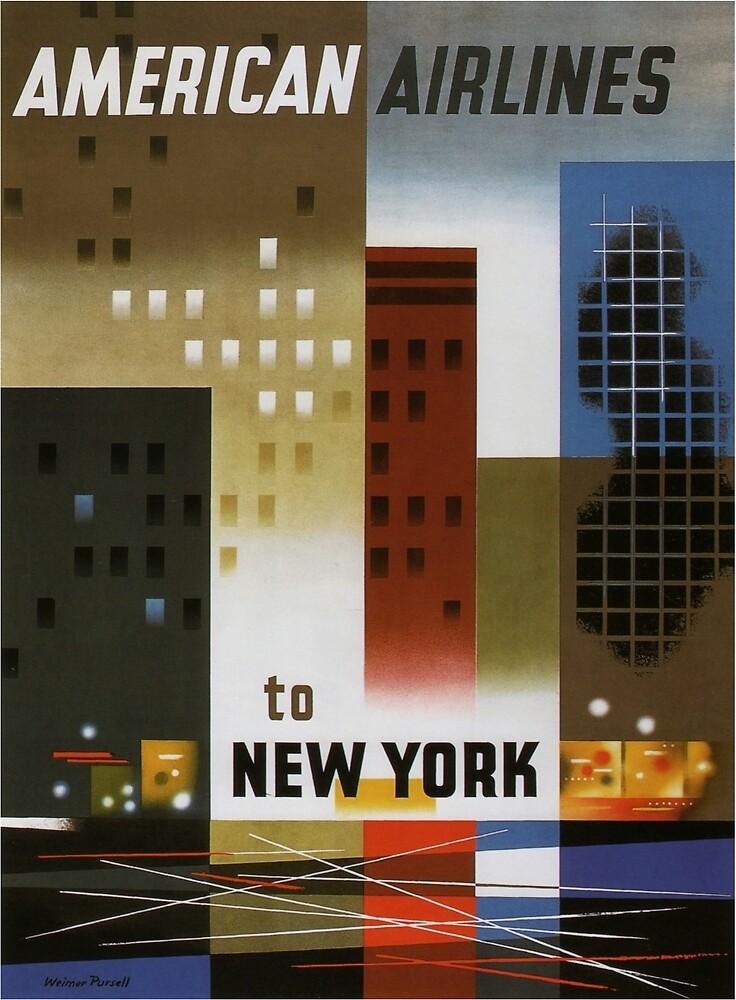 Vintage poster - New York City by mosfunky