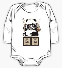 Chemie Panda entdeckt süß Baby Body Langarm