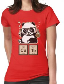 Chemistry panda discovered cute Womens Fitted T-Shirt