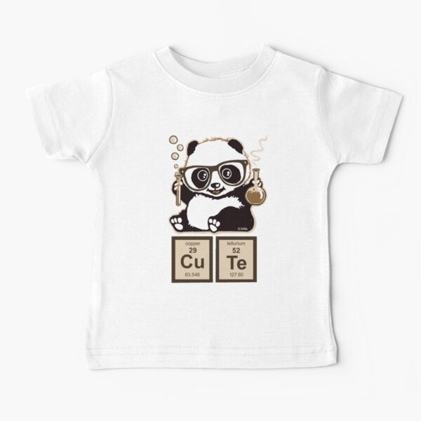 Chemistry panda discovered cute Baby T-Shirt
