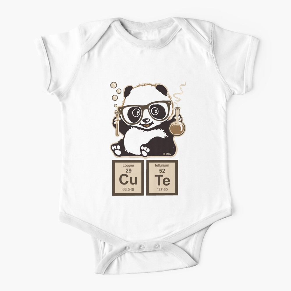 Chemistry panda discovered cute Baby One-Piece