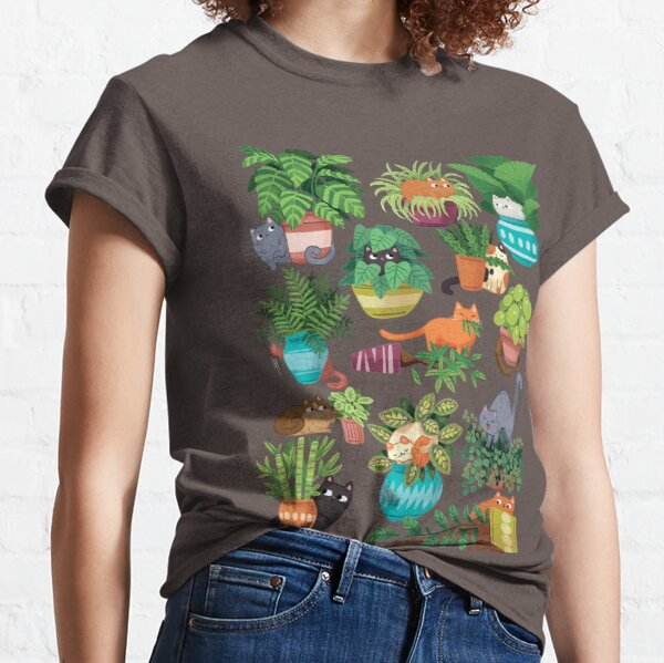 Cats And Plants  Classic T-Shirt