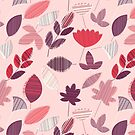 Abstract Pink Florar Pattern  by rusanovska