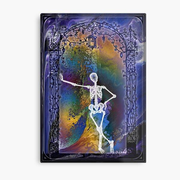 Gateway: Halloween Skeleton Metal Print
