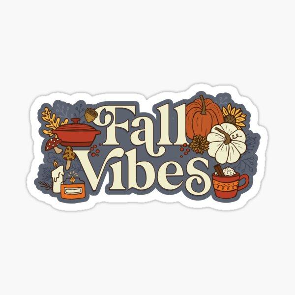 Cozy Fall Vibes Pattern Sticker