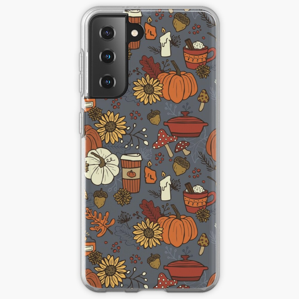 Cozy Fall Vibes Pattern Samsung Galaxy Phone Case