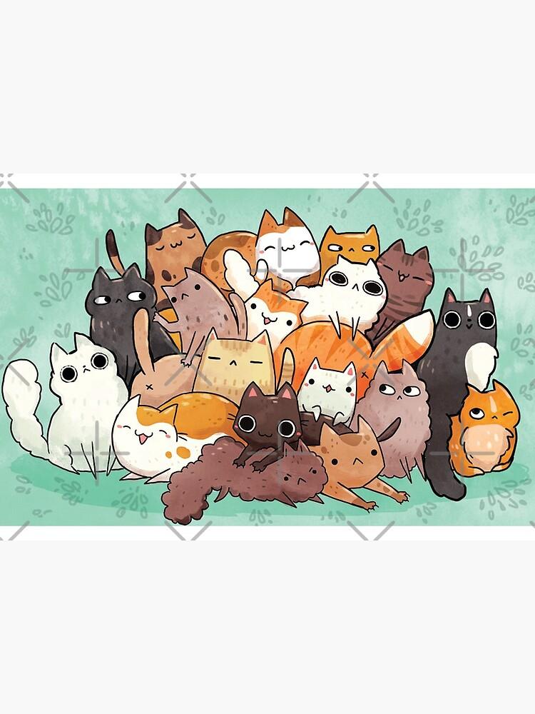 «Pile o chat» par michelledraws