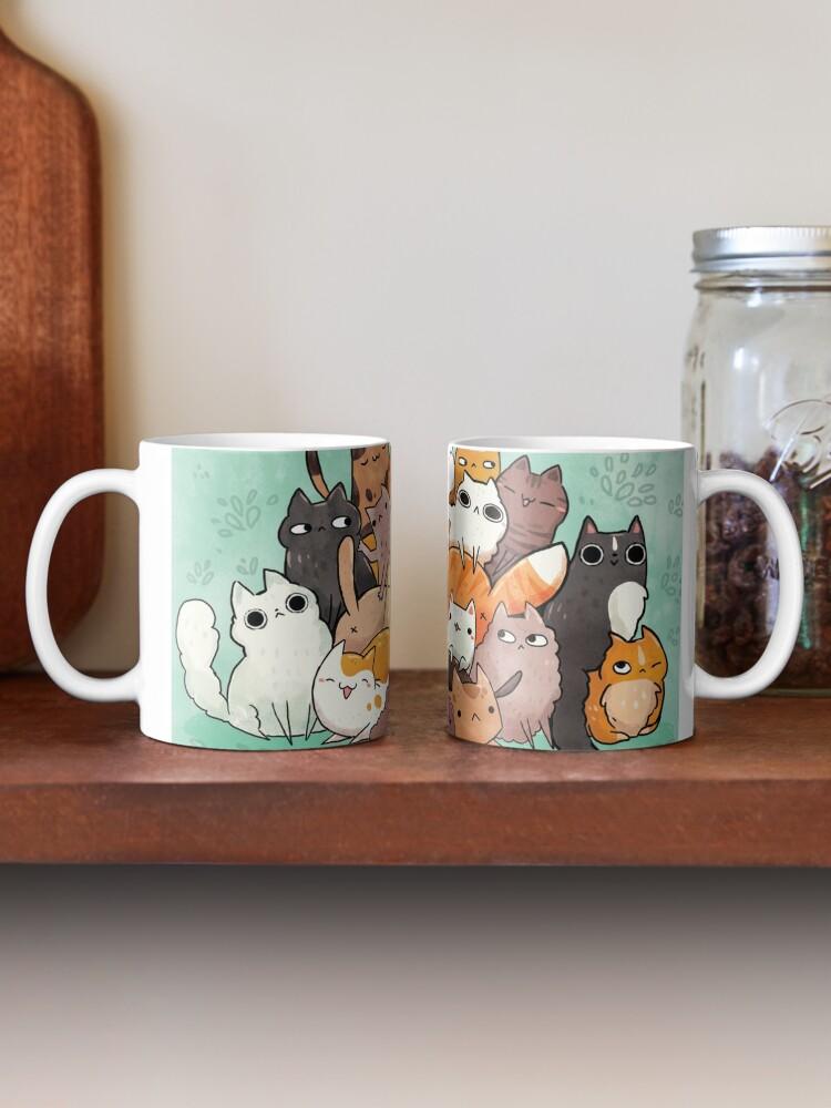 Alternate view of Pile o cat  Mug