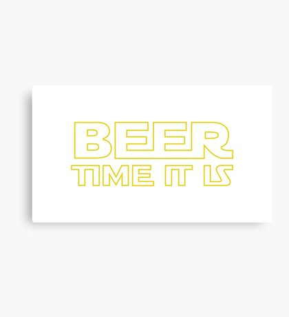 Beer Time It Is Canvas Print