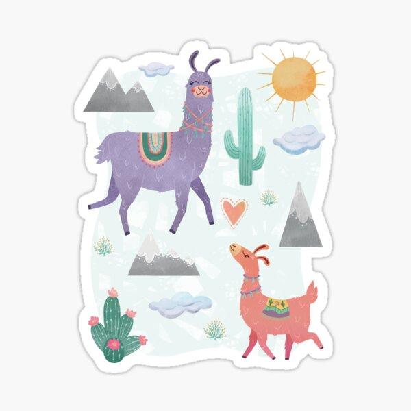 Llama Mama Mountain Desert Love Sticker