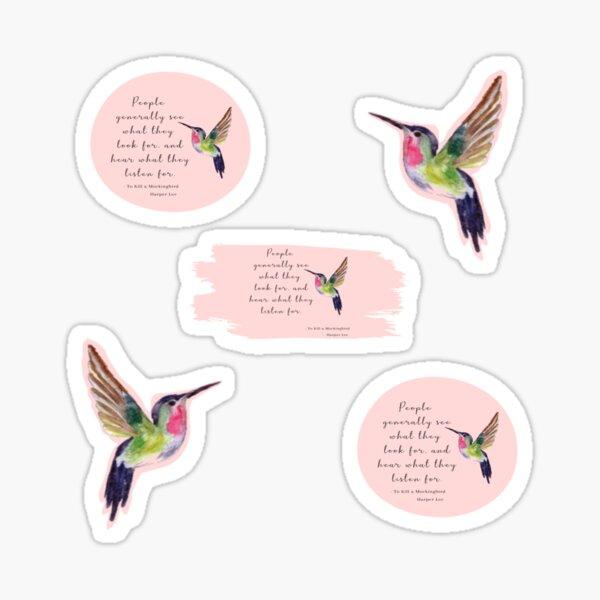 Harper Lee To Kill a Mockingbird Book Quote Sticker