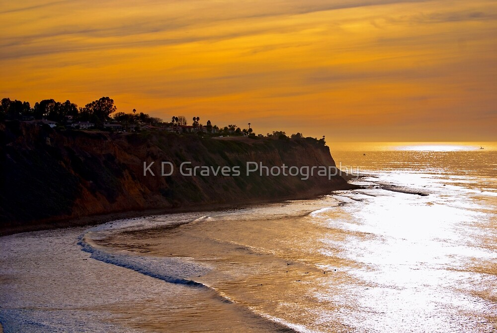 Palos Verdes Sunset by K D Graves Photography