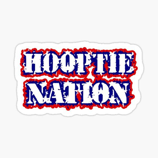 Hooptie Nation Flag Shirt Sticker