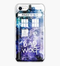 Doctor Who Tardis Bad Wolf Watercolor iPhone Case/Skin