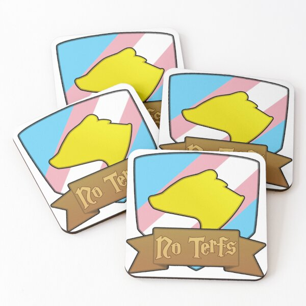 House Badger - No Terfs Coasters (Set of 4)