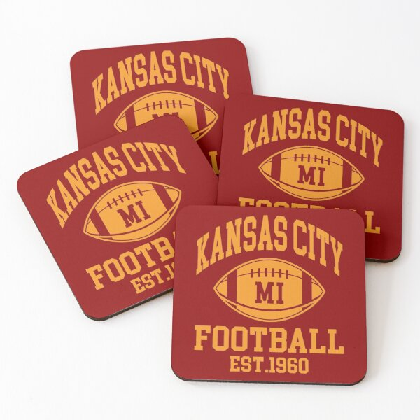 Kansas City Football Supporters Coasters (Set of 4)